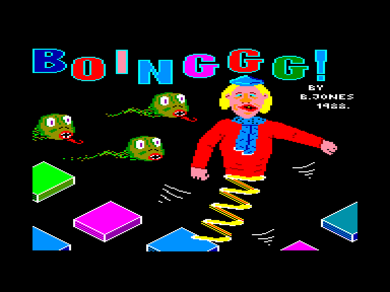 screenshot of the Amstrad CPC game Boinggg! by GameBase CPC