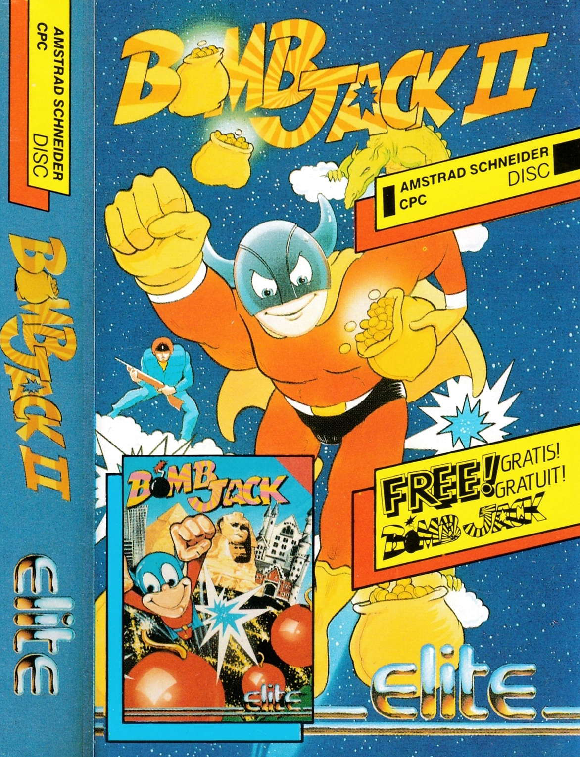 cover of the Amstrad CPC game Bomb Jack II  by GameBase CPC