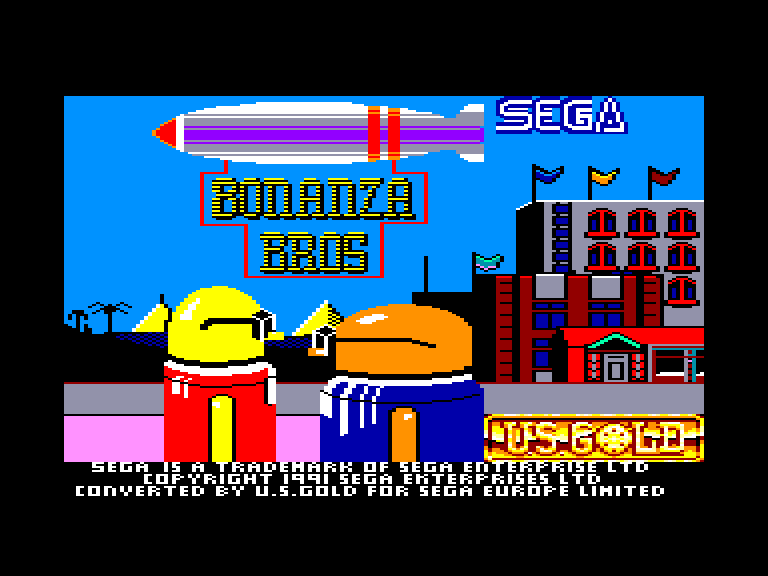 screenshot of the Amstrad CPC game Bonanza bros by GameBase CPC