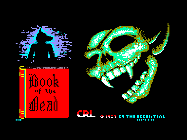 screenshot of the Amstrad CPC game Book of the dead by GameBase CPC