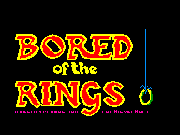 screenshot of the Amstrad CPC game Bored of the rings by GameBase CPC