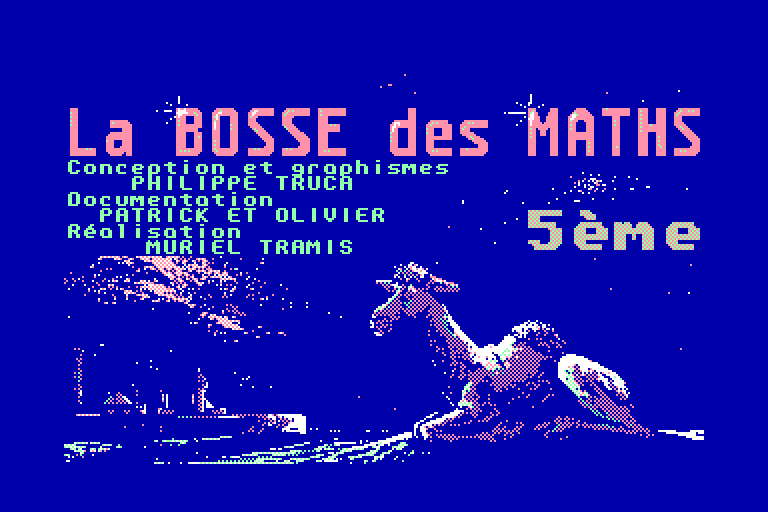 screenshot of the Amstrad CPC game Bosse des Maths 5eme (la) by GameBase CPC