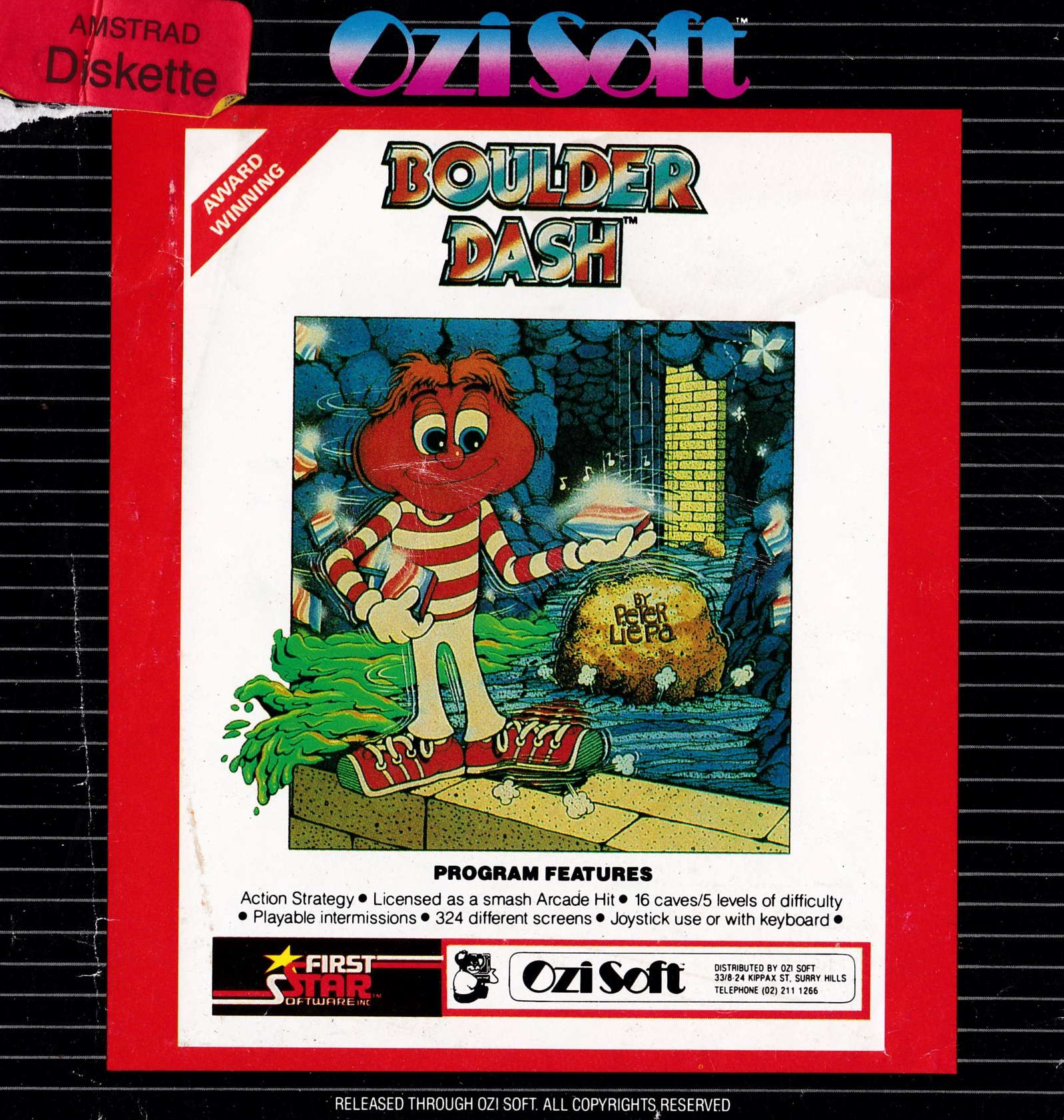 cover of the Amstrad CPC game Boulder Dash  by GameBase CPC