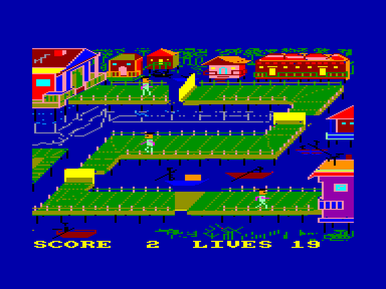 screenshot of the Amstrad CPC game Bridge-It by GameBase CPC
