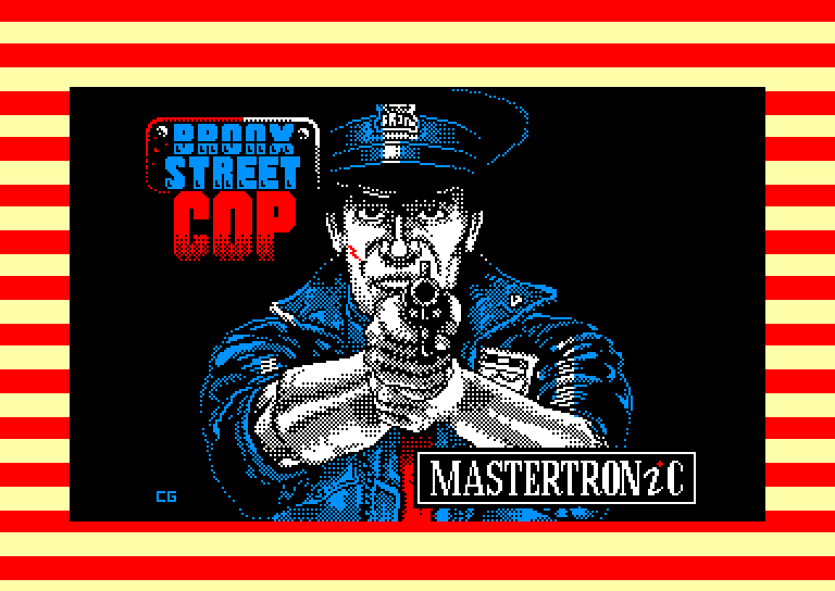 screenshot of the Amstrad CPC game Bronx Street Cop by GameBase CPC