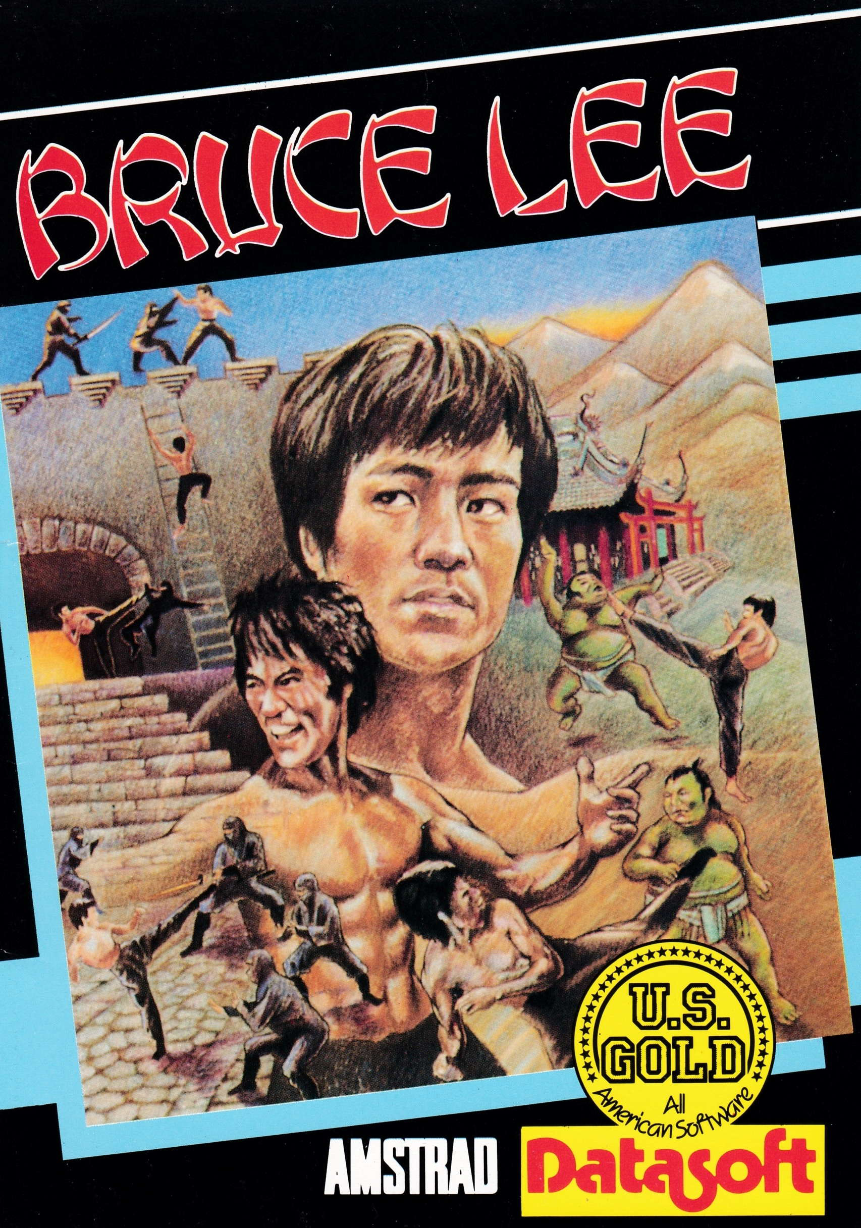 screenshot of the Amstrad CPC game Bruce Lee by GameBase CPC