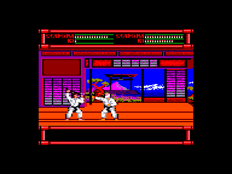 screenshot of the Amstrad CPC game Budokan the martial spirit by GameBase CPC