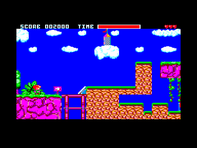 screenshot of the Amstrad CPC game Builderland by GameBase CPC