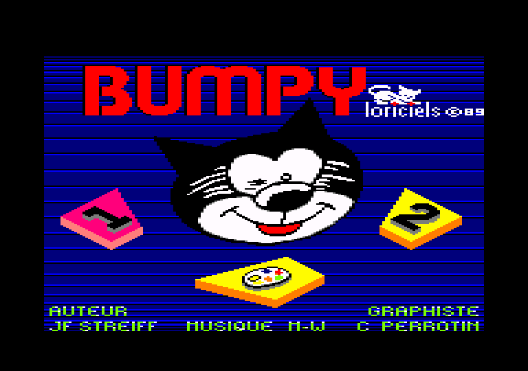 screenshot of the Amstrad CPC game Bumpy by GameBase CPC