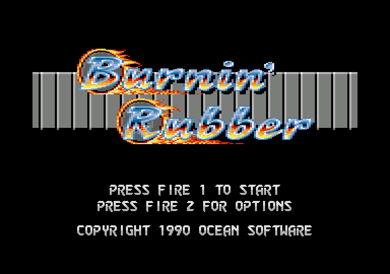 screenshot of the Amstrad CPC game Burnin' Rubber by GameBase CPC