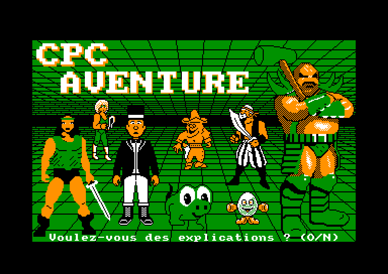 screenshot of the Amstrad CPC game CPC Aventure by GameBase CPC