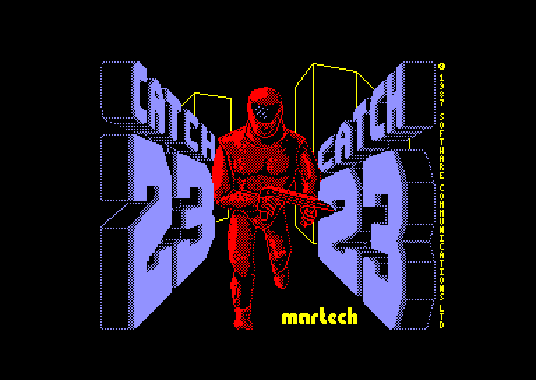 screenshot of the Amstrad CPC game Catch 23 by GameBase CPC