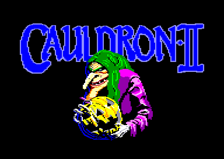 screenshot of the Amstrad CPC game Cauldron II by GameBase CPC