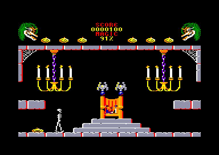 screenshot of the Amstrad CPC game Cauldron II by GameBase CPC