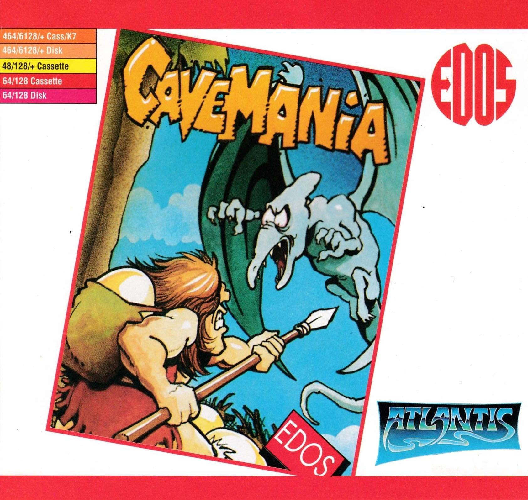 screenshot of the Amstrad CPC game Cavemania by GameBase CPC