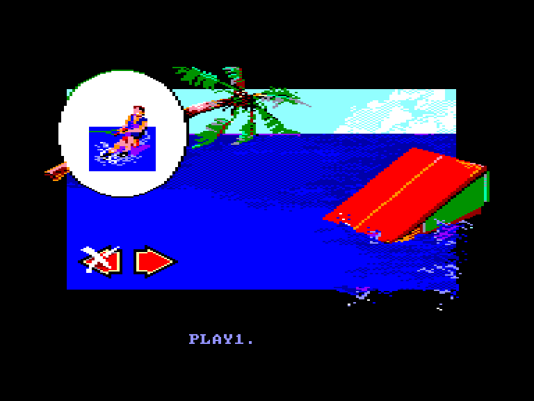 screenshot of the Amstrad CPC game Dieux de la Mer (les) by GameBase CPC