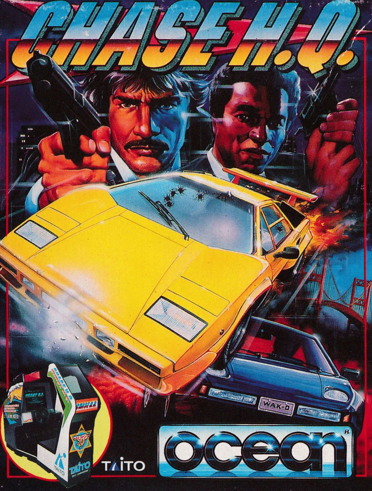 screenshot of the Amstrad CPC game Chase H.Q. by GameBase CPC