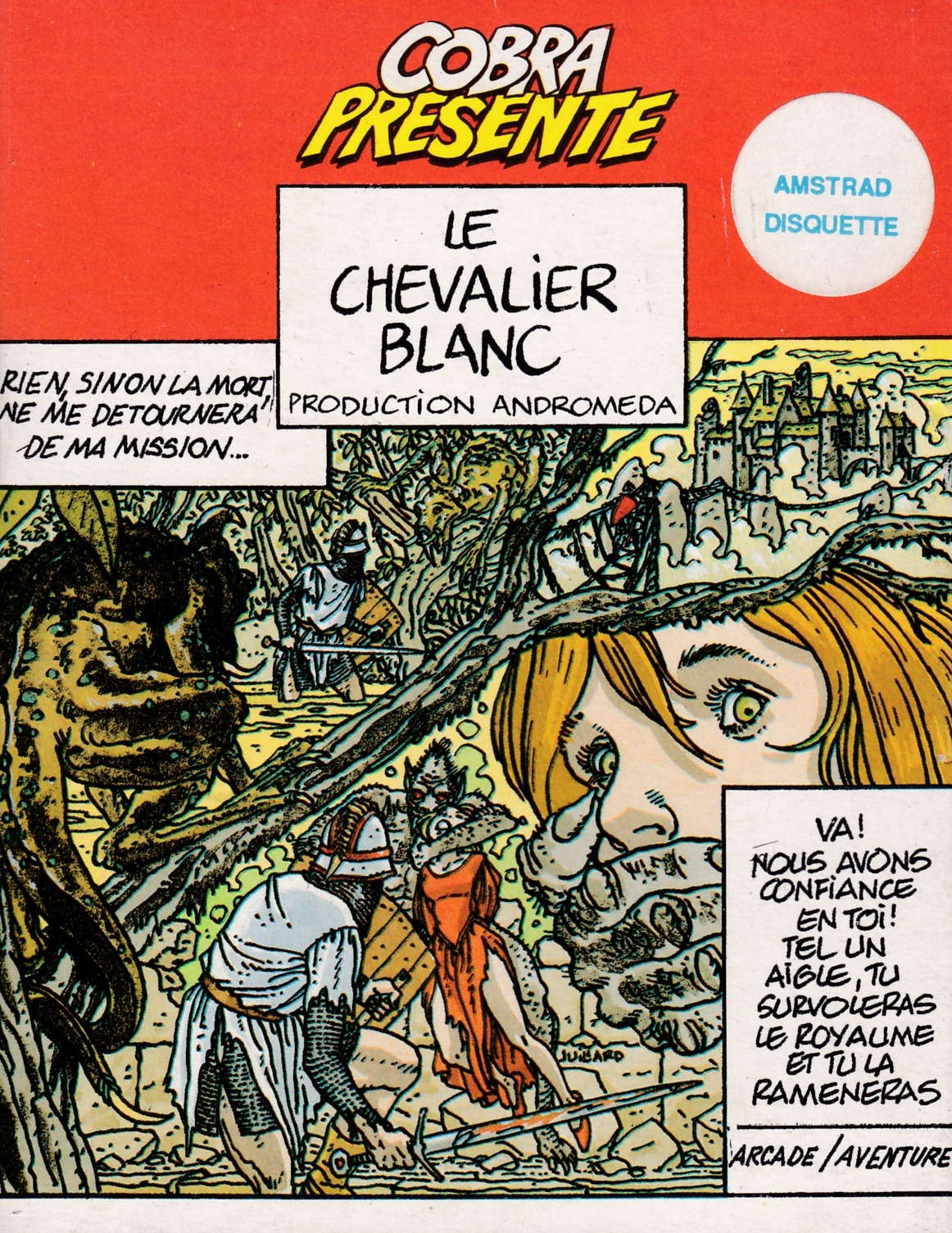 screenshot of the Amstrad CPC game Chevalier blanc (le) by GameBase CPC