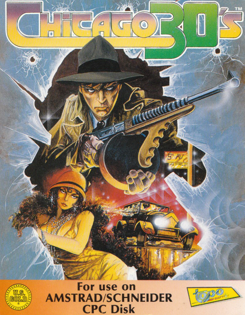 cover of the Amstrad CPC game Chicago 30's  by GameBase CPC