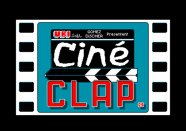 screenshot of the Amstrad CPC game Cine clap by GameBase CPC