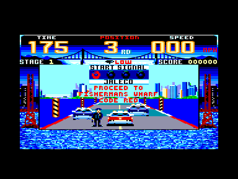 screenshot of the Amstrad CPC game Cisco Heat by GameBase CPC