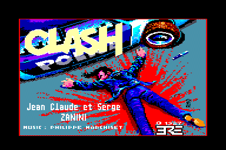 screenshot of the Amstrad CPC game Clash by GameBase CPC
