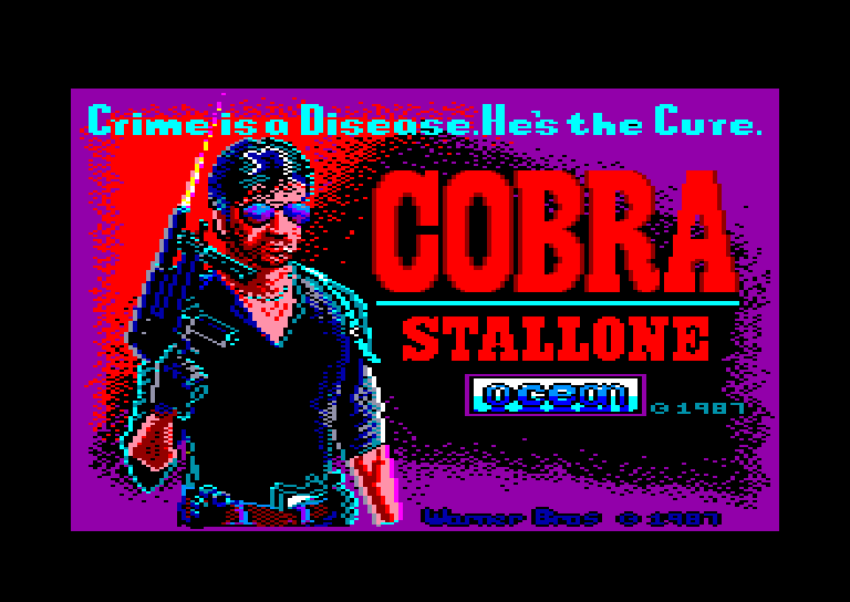 screenshot of the Amstrad CPC game Cobra stallone by GameBase CPC