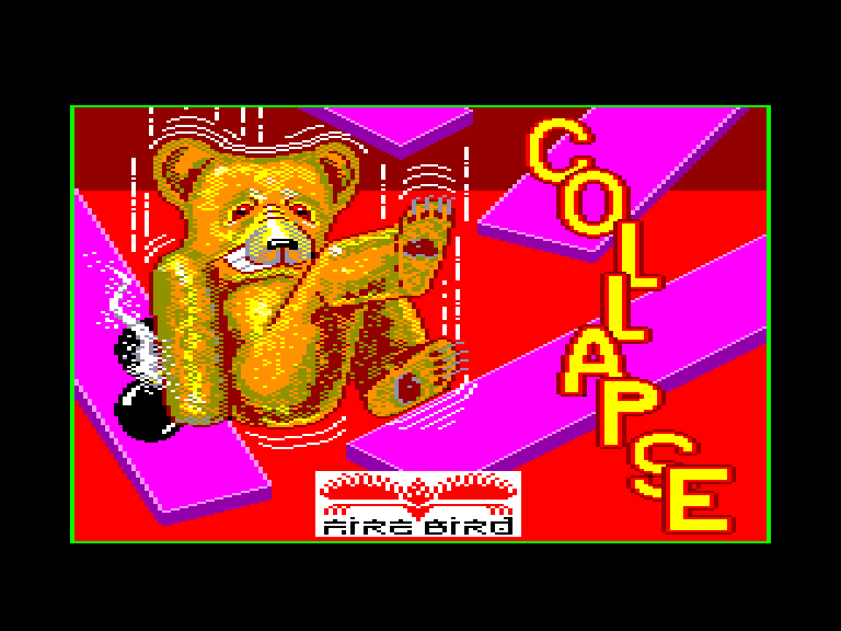 screenshot of the Amstrad CPC game Collapse by GameBase CPC
