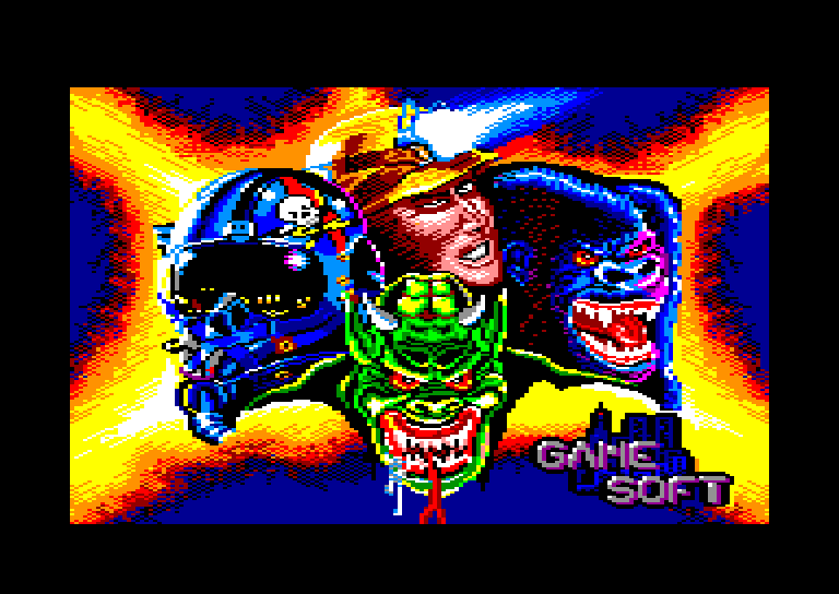 screenshot of the Amstrad CPC game Comando quatro by GameBase CPC