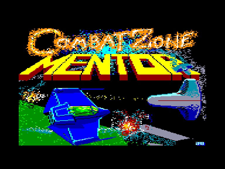 screenshot of the Amstrad CPC game Combat zone by GameBase CPC