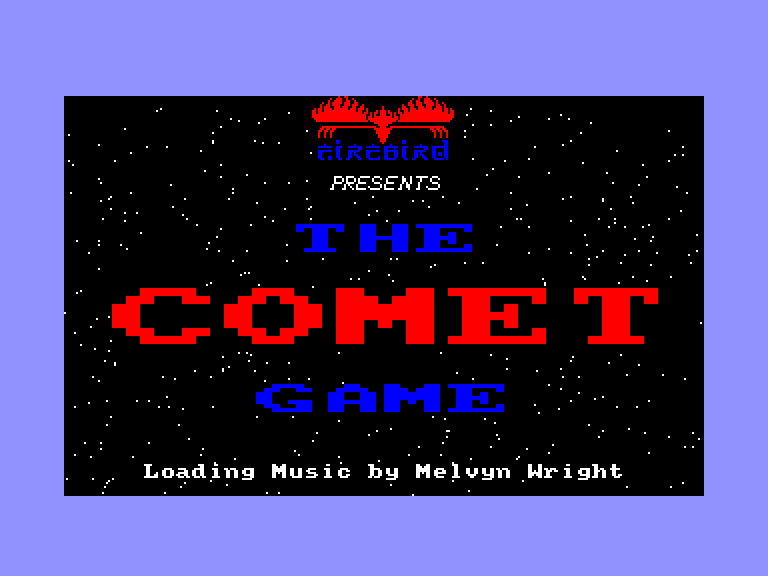 screenshot of the Amstrad CPC game Comet game (the) by GameBase CPC