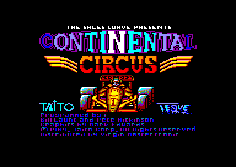 screenshot of the Amstrad CPC game Continental Circus by GameBase CPC