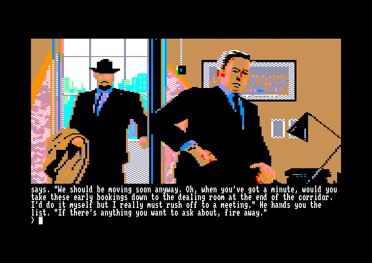 screenshot of the Amstrad CPC game Corruption by GameBase CPC