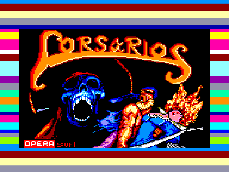 screenshot of the Amstrad CPC game Corsarios by GameBase CPC