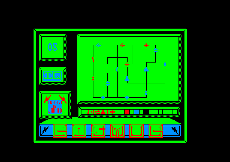 screenshot of the Amstrad CPC game Cosmic shock absorber by GameBase CPC