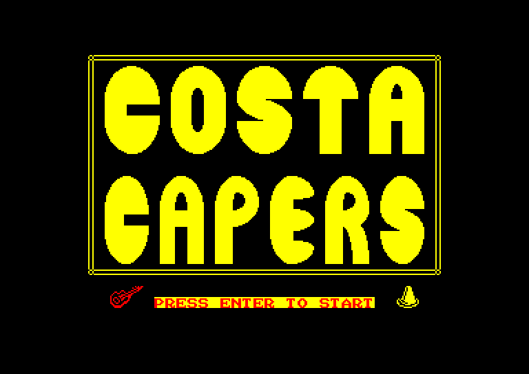 screenshot of the Amstrad CPC game Costa capers by GameBase CPC