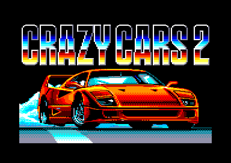 screenshot of the Amstrad CPC game Crazy cars II by GameBase CPC
