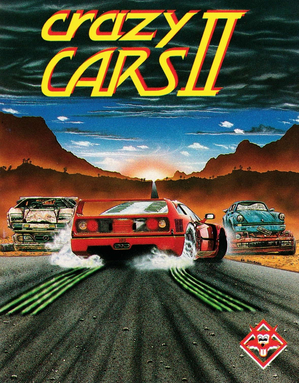 cover of the Amstrad CPC game Crazy Cars II  by GameBase CPC