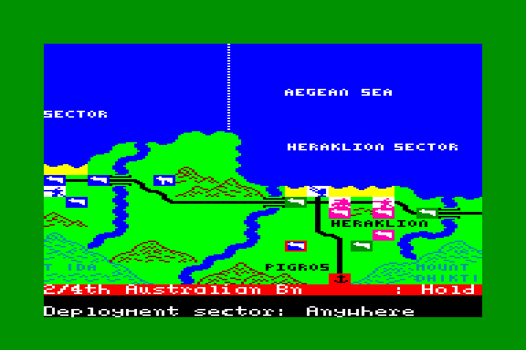 screenshot of the Amstrad CPC game Crete 1941 by GameBase CPC