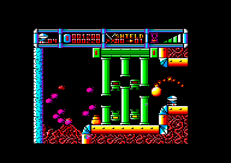 screenshot of the Amstrad CPC game Cybernoid by GameBase CPC