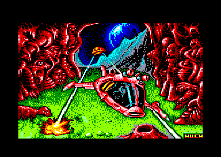 screenshot of the Amstrad CPC game Cybernoid II by GameBase CPC