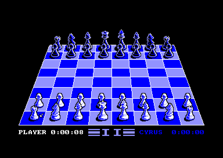 screenshot of the Amstrad CPC game Cyrus II Chess by GameBase CPC
