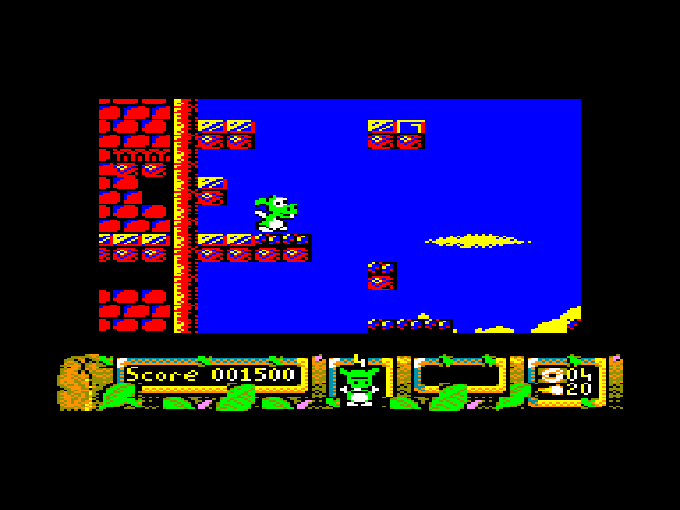 screenshot of the Amstrad CPC game Dj puff by GameBase CPC