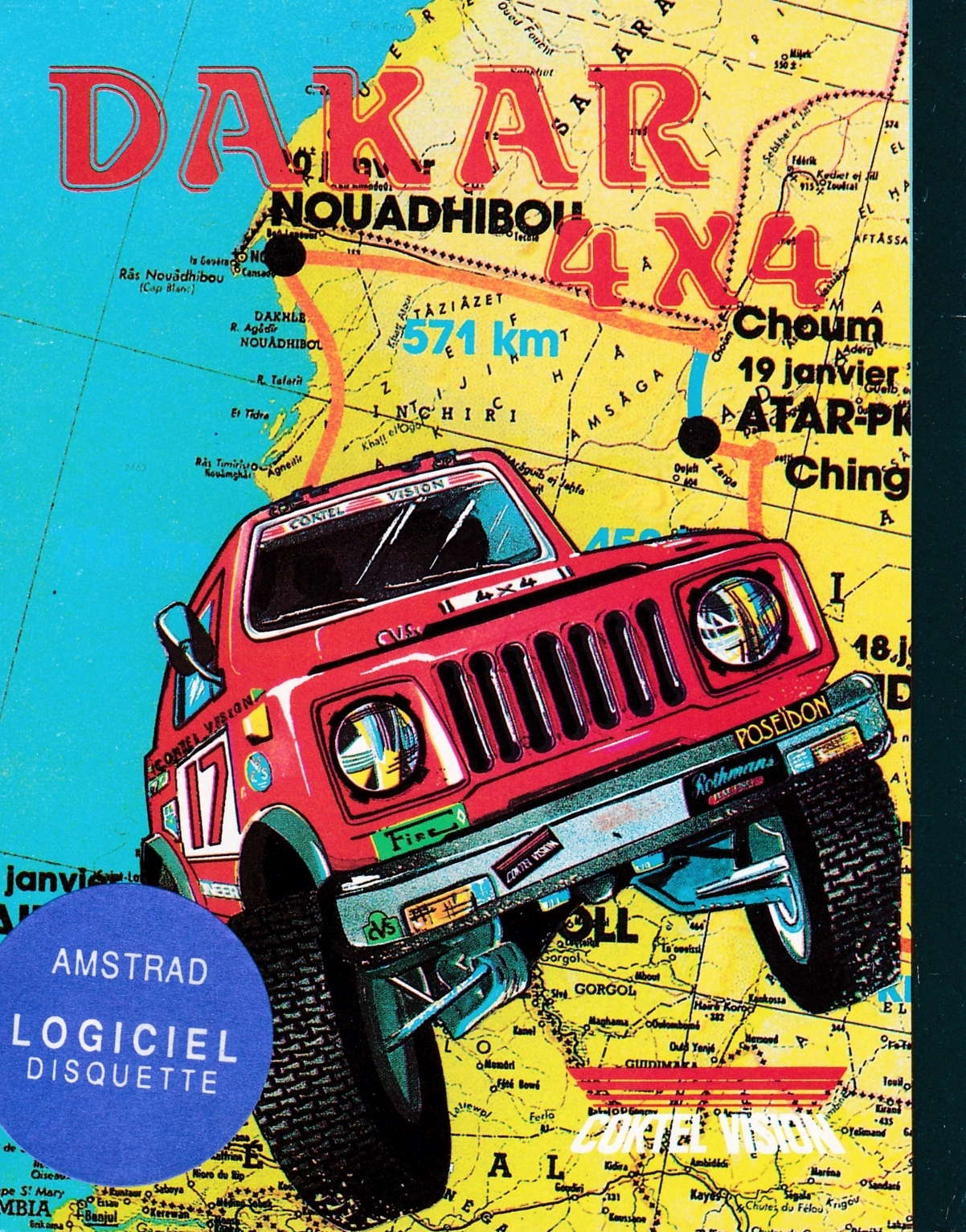 cover of the Amstrad CPC game Dakar 4x4  by GameBase CPC