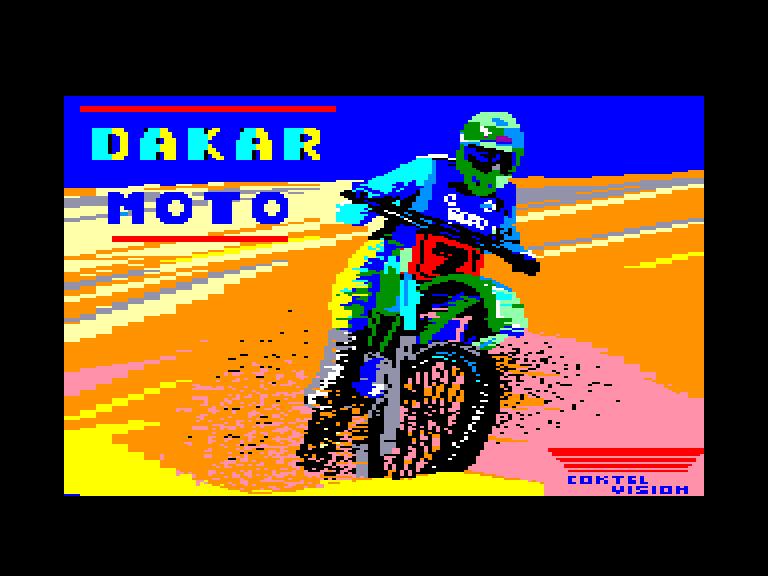 screenshot of the Amstrad CPC game Dakar moto by GameBase CPC