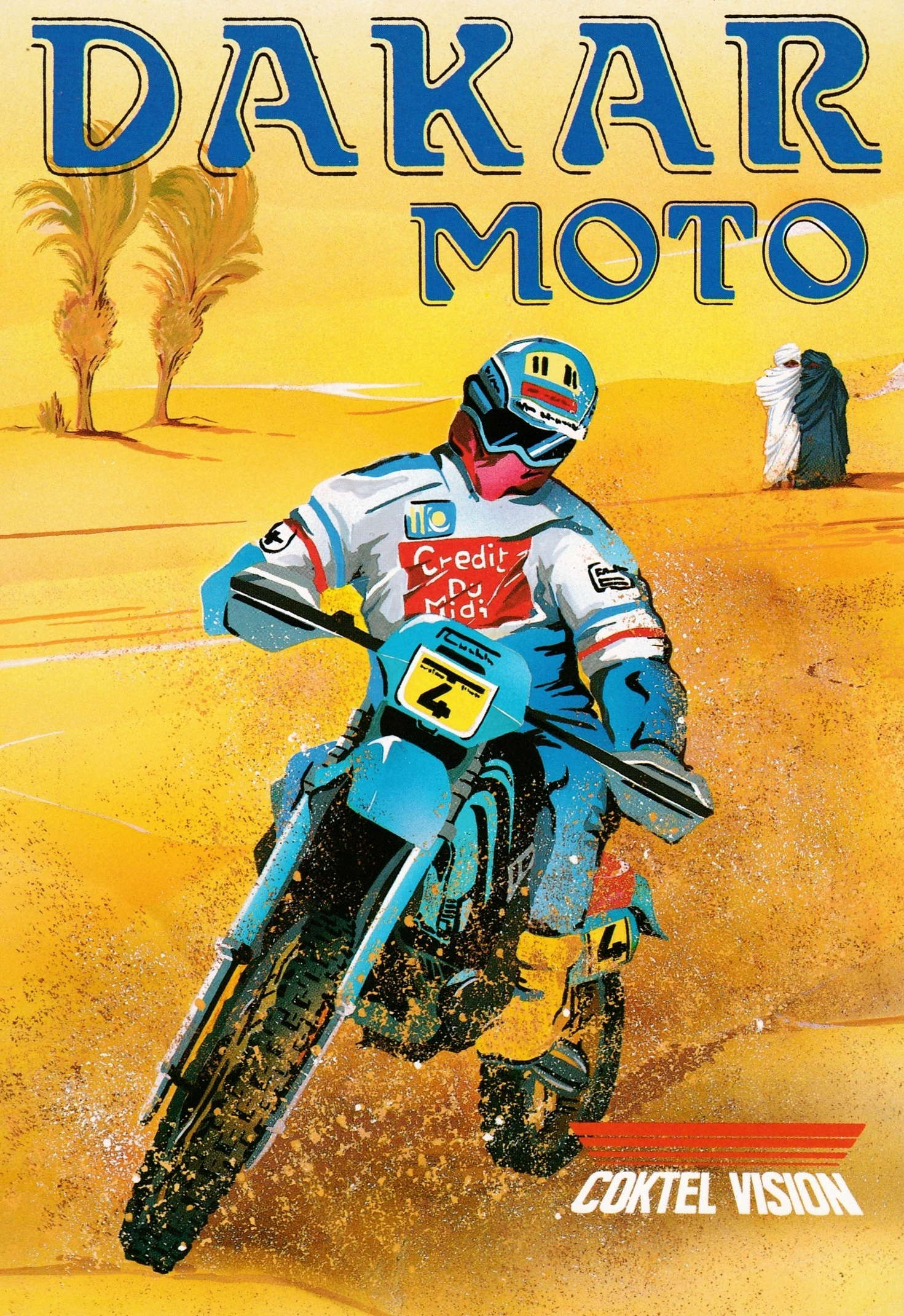 cover of the Amstrad CPC game Dakar Moto  by GameBase CPC
