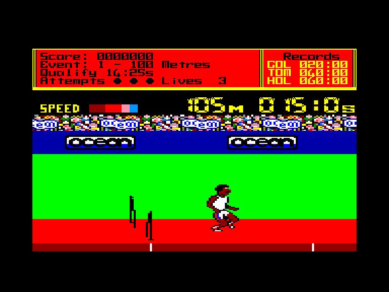 screenshot of the Amstrad CPC game Daley thompson's decathlon by GameBase CPC