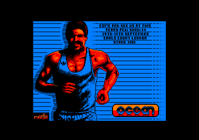 screenshot of the Amstrad CPC game Daley thompson's olympic challenge by GameBase CPC