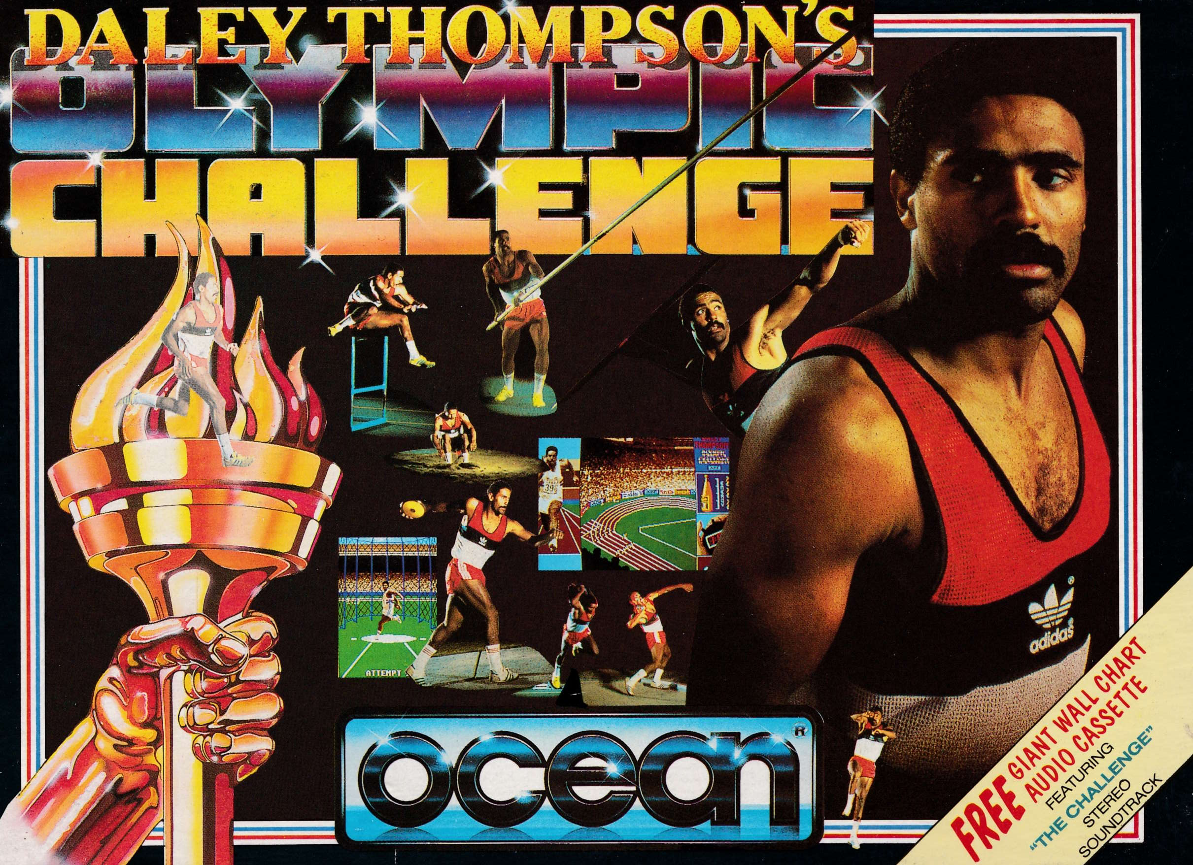 cover of the Amstrad CPC game Daley Thompson's Olympic Challenge  by GameBase CPC