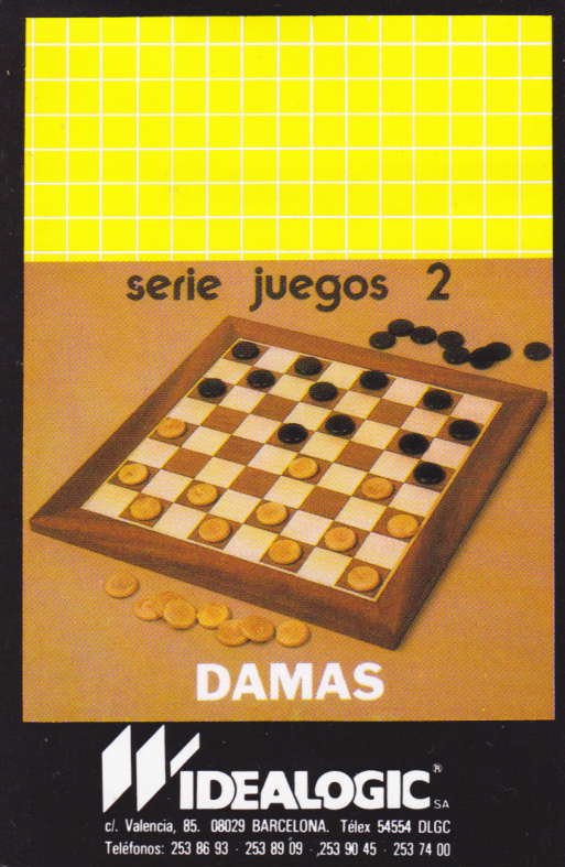 screenshot of the Amstrad CPC game Damas by GameBase CPC